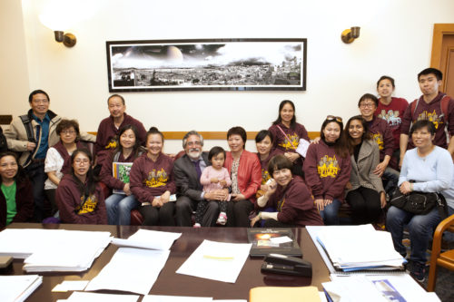 SFILEN members with Supervisor Peskin
